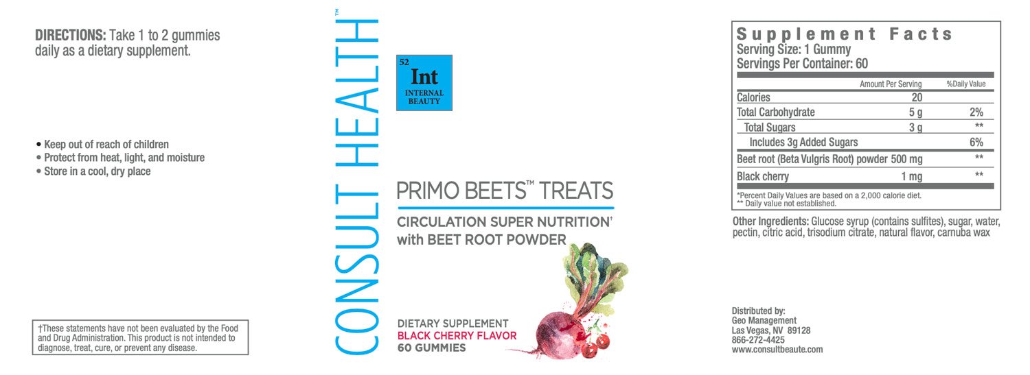 Consult Health Primo Beets Treats Circulation Super Nutrition with Beet Root Powder