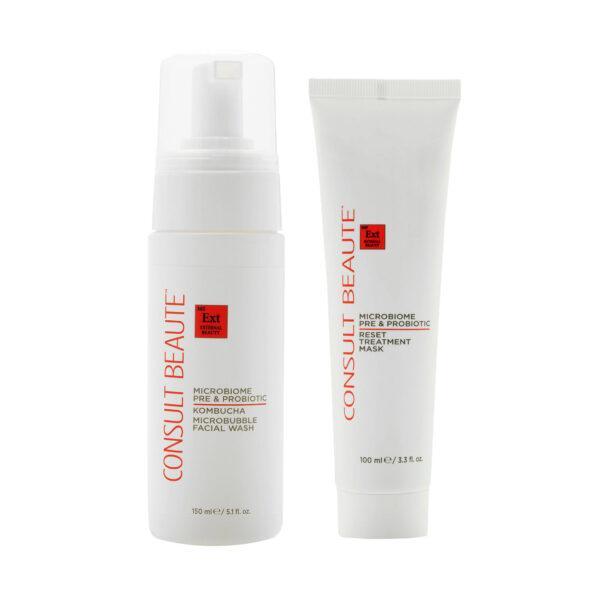 Microbiome Kombucha Facial Wash and Mask Duo