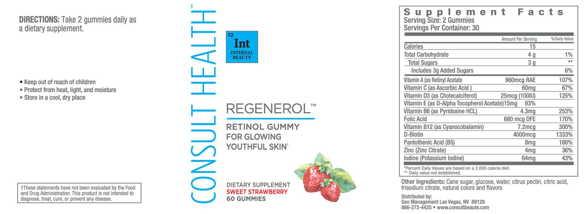 Consult Health Regenerol Retinol Gummy
