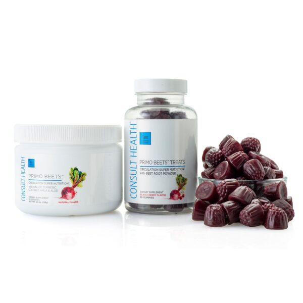 Consult Health Primo Beets Natural Flavor and Primo Beets Treats Black Cherry