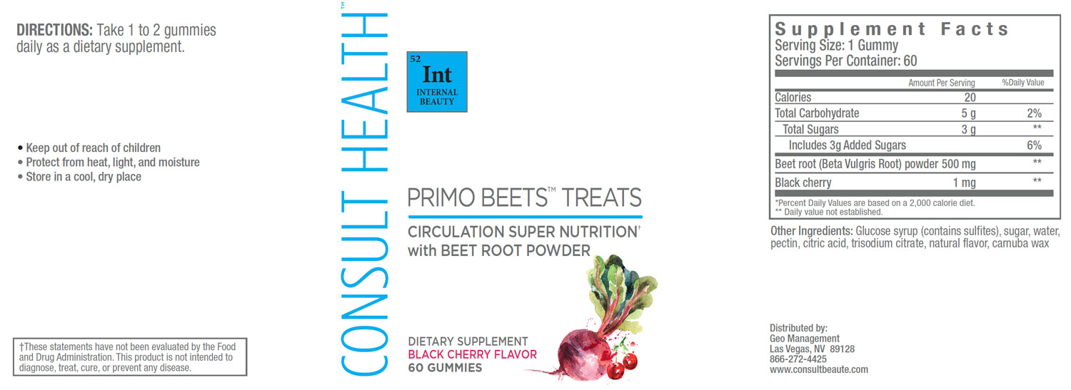Consult Health Primo Beets and Primo Beets Treats Cherry Flavor